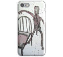 UN HOMBRE QUE SALTA AL VACÍO (a man is jumping into the void) iPhone Case/Skin