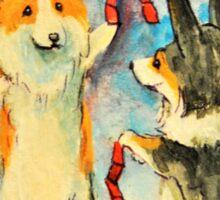 Welsh Pembroke Corgi~Cardigan~Dog~Winning at Arcade Sticker