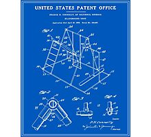 Playground Patent - Blueprint Photographic Print
