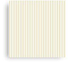 Spicy Mustard Pinstripe on Solid White Canvas Print