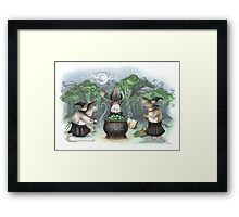 Three Wee Witches Framed Print