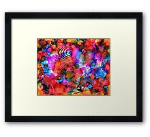 Fuschia Pink Red Yellow Surrealism Futurism Painting Framed Print