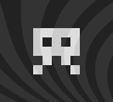 Space Invader Retro Black N' White by ahmadsarvmeily