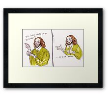 Shakespeare Sick Verse Framed Print