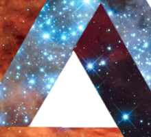 Impossible triangle galaxy Sticker