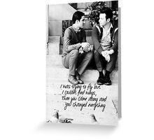 Klaine Wings Greeting Card