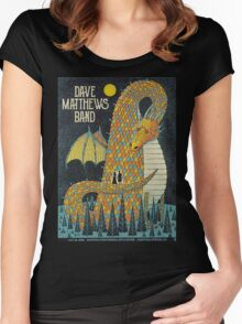 DAVE MATTHEWS BAND, SARATOGA PERFORMING ARTS CENTER SARATOGA, SPRINGS, NY Women's Fitted Scoop T-Shirt