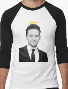 Tom Hiddleston with a halo  Men's Baseball ¾ T-Shirt