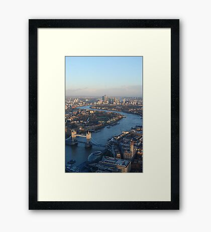 A huge view from The Shard Framed Print
