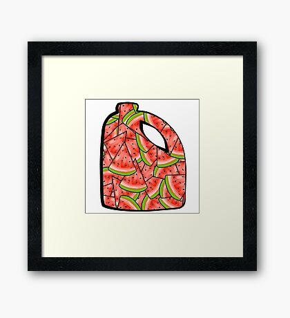 Watermelon Bleach Framed Print