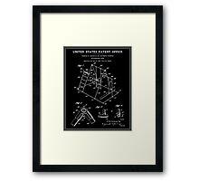Playground Patent - Black Framed Print
