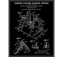 Playground Patent - Black Photographic Print