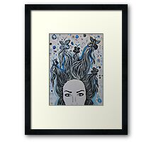 Blue Butterfly chaos Framed Print