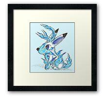 Ice Jackalope Framed Print