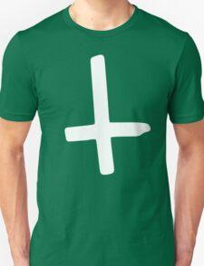 White Inverted Cross Unisex T-Shirt