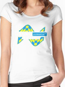 Volvo Polestar Racing Graphic WHT Women's Fitted Scoop T-Shirt