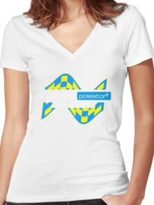 Volvo Polestar Racing Graphic WHT Women's Fitted V-Neck T-Shirt