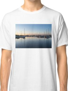 Pink and Blue Serenity - Soft Dawn at the Marina Classic T-Shirt