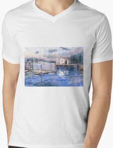 The First Light Of Dawn at Port Clyde Maine Mens V-Neck T-Shirt