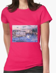 The First Light Of Dawn at Port Clyde Maine Womens Fitted T-Shirt