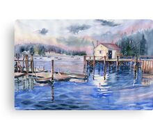 The First Light Of Dawn at Port Clyde Maine Canvas Print