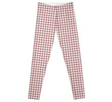 Classic Houndstooth in Dusty Cedar and White Leggings