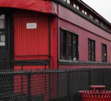 Old Scarlet Train (Red) Sticker