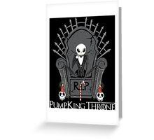 PumpKing Throne Greeting Card