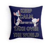 Keep Calm and Try to Take Over the World Throw Pillow