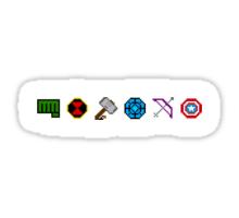 8 bit Avengers Sticker