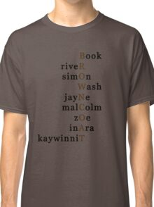 Firefly Browncoat Acrostic Classic T-Shirt