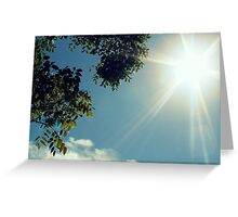 Burst of Sunlight Greeting Card