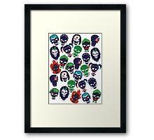 Suicide Squad Emblems  Framed Print