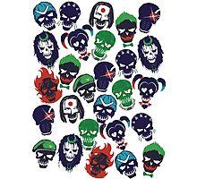Suicide Squad Emblems  Photographic Print