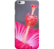 Red Hibiscus Macro Flower iPhone Case/Skin