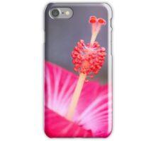 Red Hibiscus Macro Flower iPhone Case/Skin