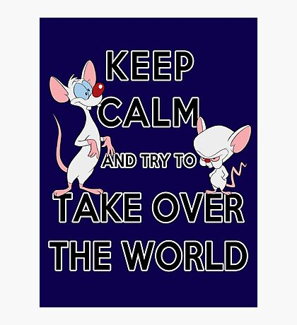 Keep Calm and Try to Take Over the World Photographic Print