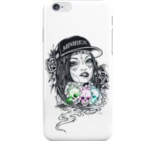 GIRL SKULLS CAP MINIREX iPhone Case/Skin