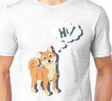 Thoughtful Shiba Inu Unisex T-Shirt