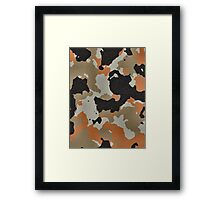 Fashion Orange Camouflage  Framed Print