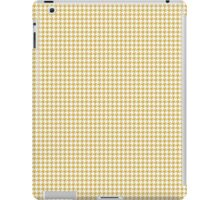 Classic Houndstooth in Spicy Mustard Yellow and White iPad Case/Skin