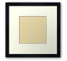 Classic Houndstooth in Spicy Mustard Yellow and White Framed Print