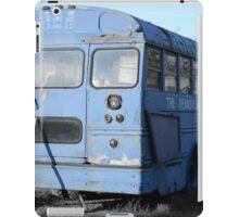 Old Junkyard Bus (Blue) iPad Case/Skin