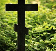 black cross gravestone by mrivserg