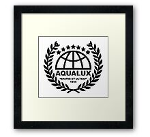 Aqualux Logo Framed Print