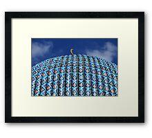 Huge blue dome Arab mosque  Framed Print