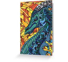 Dragon Blues Greeting Card