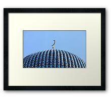 golden crescent mosque  Framed Print