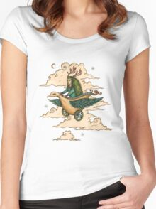 Away we fly... Women's Fitted Scoop T-Shirt