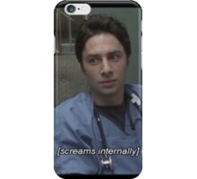 JD screams internally iPhone Case/Skin